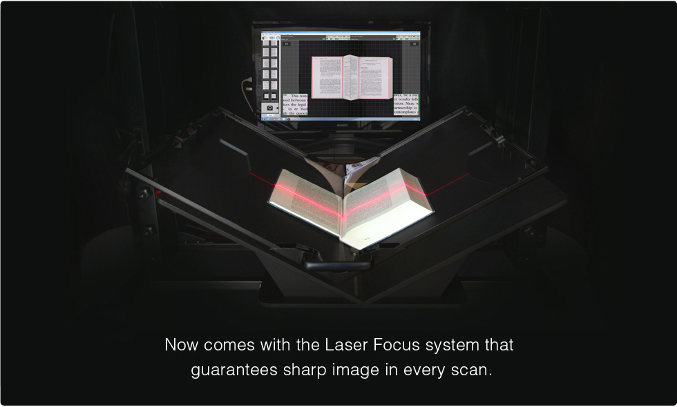 Now Comes with the Laser Focus system that guarantees sharp image in every scan.