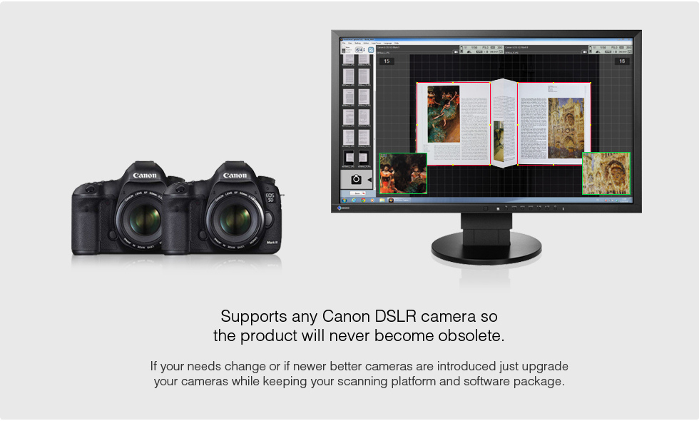 Supports any Canon DSLR camera so the product will never become obsolete.